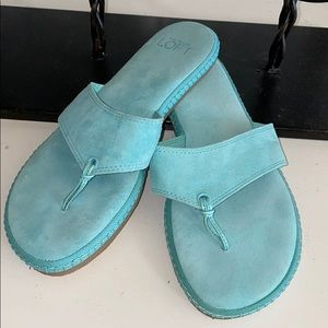 Ann Taylor LOFT espadrille thong sandals NWOT
